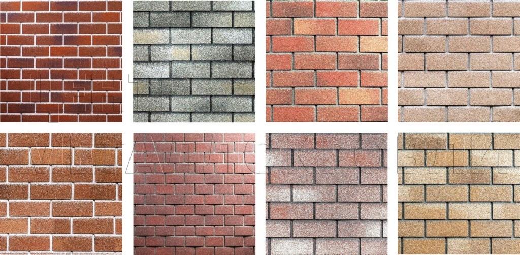 Образцы фасадной плитки - кирпич